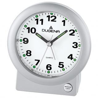 DUGENA 4460610 Wecker Analog Licht Alarm silber