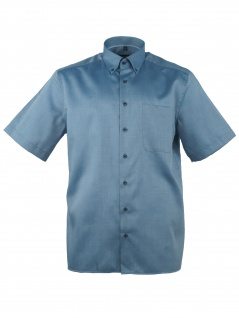 Eterna Herren Hemd Kurzarm Comfort Fit L/42 Blau 8932/15/K19L