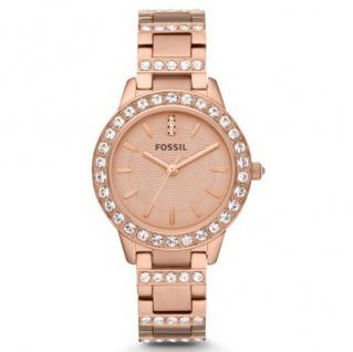 Fossil JESSE Uhr Damenuhr rosé Zirkonia weiß ES3020