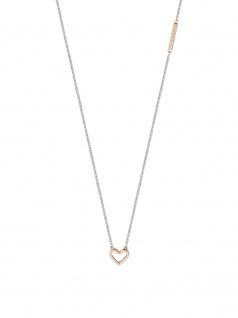 Esprit ESNL00691242 Damen Collier Herz Melody Bicolor Rose Weiß 45 cm
