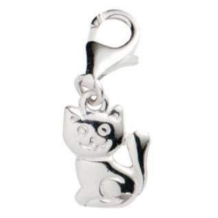 Basic Silber 22.VX289 Damen Charms Katze Silber
