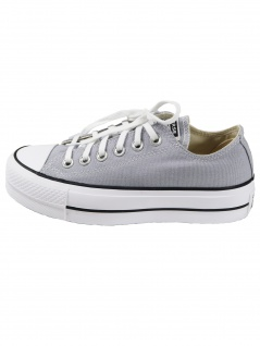 Converse Damen Schuhe CTAS Lift Ox Hellgrau Leinen Sneakers 37.5 EU