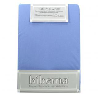 Biberna 77866 Jersey Elastic Spannbetttuch Mittelblau 90x190 100x220