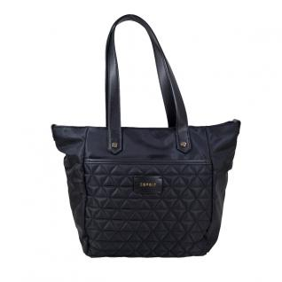 Esprit Wing Shopper Schwarz Damen Hand Henkel Tasche 097EA1O056-E001