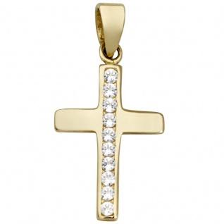 Basic Gold K36 Damen Anhänger Kreuz 14 Karat (585) Gelbgold