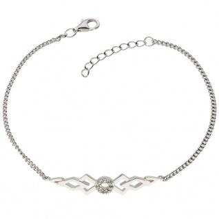 GOOIX 914-06383 Damen Armband Sterling-Silber 925 Silber Weiß 20 cm