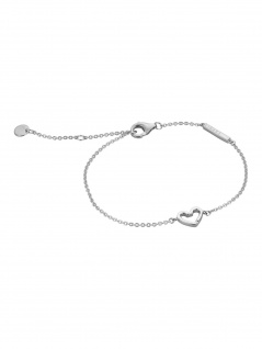 Esprit ESBR00691117 Damen Armband Herz Melody Silber Weiß 21 cm