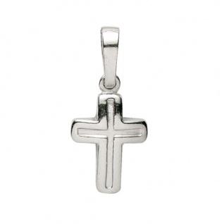 Basic Silber 27.9133S Damen Anhänger Kreuz Silber