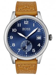 Hugo Boss 1513668 LEGACY Uhr Herrenuhr Lederarmband Datum Braun