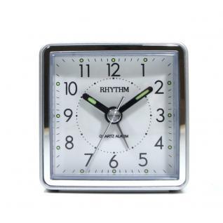 RHYTHM CRE210NR19 Wecker Alarm schwarz silber