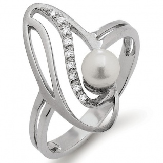 SELEXION 53EX767 Damen Ring Silber weiß 54 (17.2)