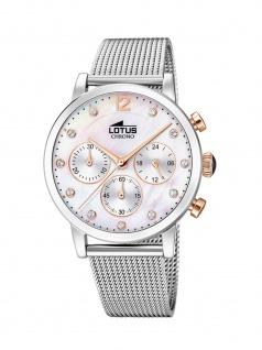 LOTUS 18676/1 ATHENA Chronograph Uhr Damenuhr Edelstahl Chrono Silber