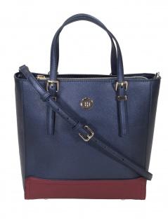 Tommy Hilfiger Damen Handtasche Tasche Honey M Workbag CB Blau