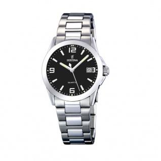 FESTINA F16377/4 Uhr Damenuhr Edelstahl Datum Silber