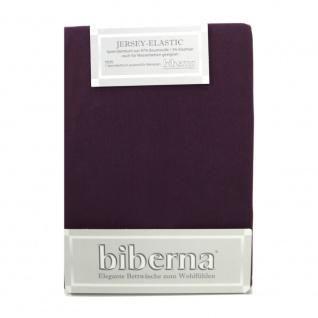 Biberna 77866-560 Jersey Elastic Spannbetttuch Bordeaux 90x190 100x220