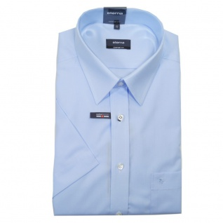 Eterna Herrenhemd Kurzarm 1100/10/K198 Comfort Fit Hellblau Gr. M/40