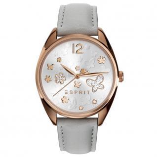 Esprit esprit-tp10892 light grey Uhr Damenuhr Lederarmband hellgrau