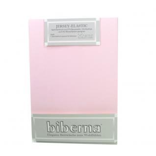 Biberna 77866-111 Jersey Elastic Spannbetttuch Rosa 90x190 100x220