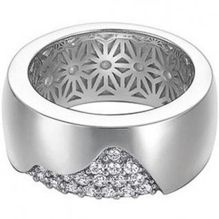 Esprit ESRG91686A Damen Ring Silber waving Zirkonia weiß Gr. 53/17, 0