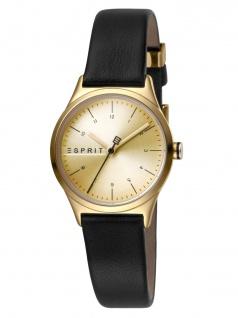 Esprit ES1L052L0025 Essential Mini Uhr Damenuhr Lederarmband Schwarz