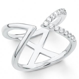 s.Oliver 2018787 Damen Ring Sterling-Silber 925 Silber Weiß 54 (17.2)