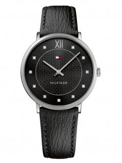 Tommy Hilfiger 1781808 SLOAN Uhr Damenuhr Lederarmband schwarz