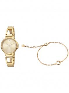 Esprit ES1L146M0065 Brace Champagne Uhr Damenuhr Edelstahl gold