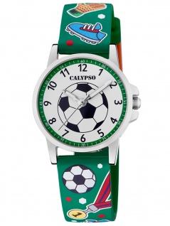 Calypso K5790/2 Fußball Uhr Junge Kinderuhr Kunststoff grün