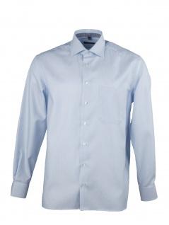 Eterna Herren Hemd Langarm Comfort Fit 3116/12/E95K Blau XL/43