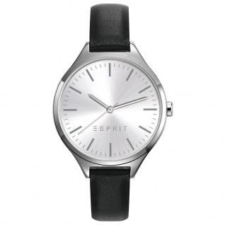 Esprit ES109272001 TP10927 BLACK Uhr Damenuhr Lederarmband schwarz