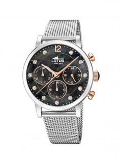 LOTUS 18676/4 ATHENA Chronograph Uhr Damenuhr Edelstahl Chrono Silber