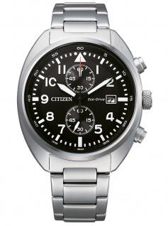 Citizen CA7040-85E Eco Drive Chronograph Uhr Herrenuhr Datum Silber