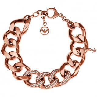 Emporio Armani EGS1988 Damen Armband Edelstahl rosé 20 cm