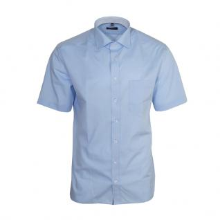 Eterna Herrenhemd Kurzarm Modern Fit Blau Business Hemd Hemden L/41