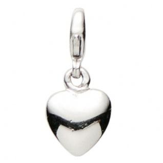 Basic Silber 22.VX125 Damen Charms Herz Silber
