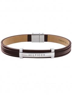 Tommy Hilfiger 2790159 Herren Armband Edelstahl Silber braun 21 cm
