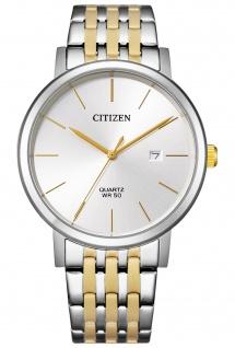 Citizen BI5074-56A Uhr Herrenuhr Edelstahl Datum bicolor