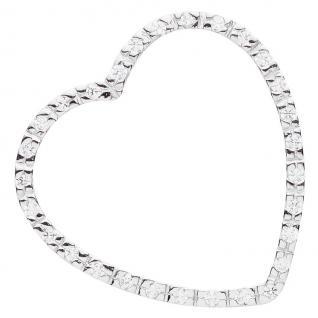 Basic Silber 21.0006S Damen Anhänger Herz Silber Zirkonia weiß