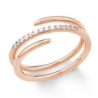 s.Oliver 2018616 Damen Ring Sterling-Silber 925 Rose Weiß 52 (16.6)