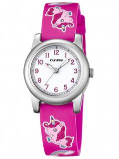 Calypso K5713/B Einhorn Uhr Mädchen Kinderuhr Kunststoff pink