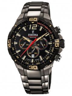 Festina F20527/1 Limited Edition Uhr Herrenuhr Chrono Datum grau
