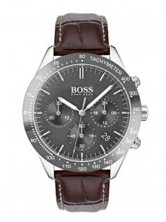 Hugo Boss 1513598 TALNT Chronograph Uhr Herrenuhr Leder Datum Braun