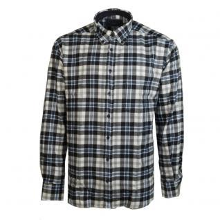 Eterna Herrenhemd Comfort Fit Schwarz Grau Weiß kariert L/42