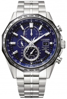 Citizen AT8218-81L Eco Drive Uhr Herrenuhr Titan Chrono Datum silber