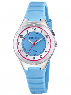 Calypso K5800/1 Uhr Mädchen Kinderuhr Kunststoff blau