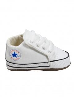 Converse Baby Kinder Schuhe CT All Star Cribster Mid Weiß Leinen 18 EU