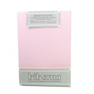Biberna 77866-111 Jersey Elastic Spannbetttuch Rosa 120x200 - 130x220