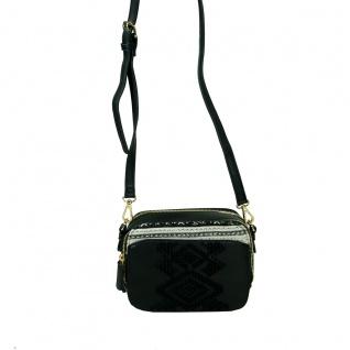 Desigual Bols Jasper Lila Schwarz 17WAXPTJ-2000 Handtasche Tasche