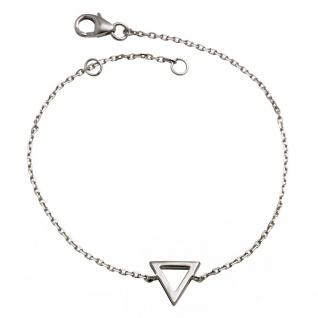 GOOIX 914-06273 Damen Armband Dreieck Sterling-Silber 925 Silber 18 cm
