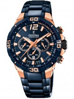 Festina F20524/1 Special Edition Uhr Herrenuhr Chrono Datum blau